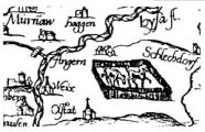 old map showing horses